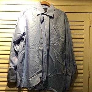 JoS. A. Bank blue dress shirt- 15.5x33